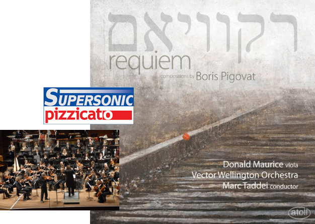 """Sep, 2012: """"Requiem"""" CD got 'Supersonic' award from Pizzicato"""