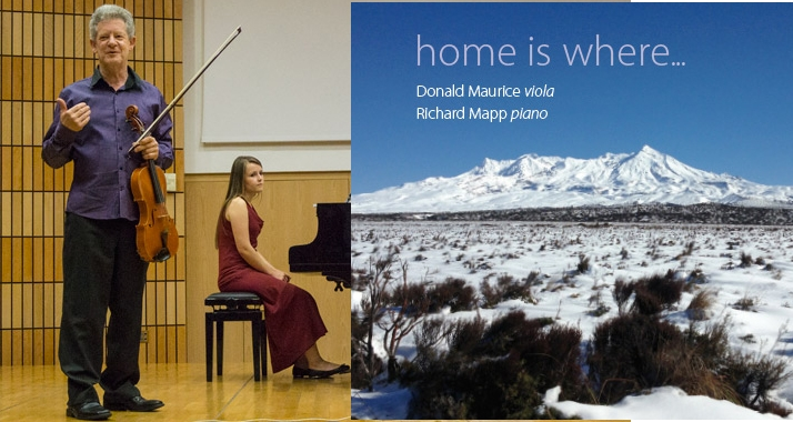"2013: Sonata for Viola and Piano – International Viola Congress at Krakow and ""home is where…"" CD"