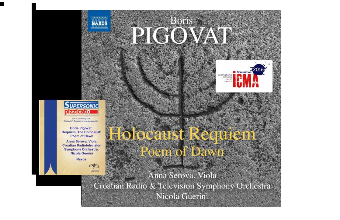"Jun, 2015: NAXOS Records launched ""Holocaust Requiem & Poem of Dawn"" CD"